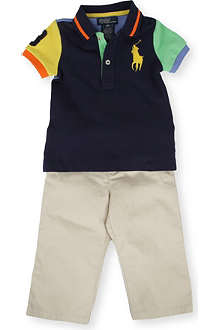 RALPH LAUREN Big Pony polo and trouser set 9-24 months