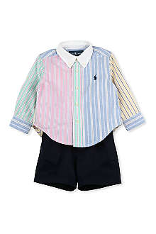 RALPH LAUREN Shirt and shorts set 9-18 months