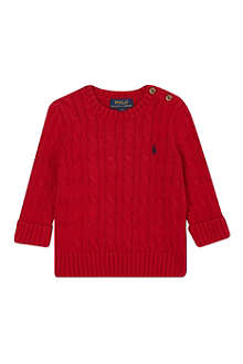 RALPH LAUREN Classic cable knit jumper 9-24 months