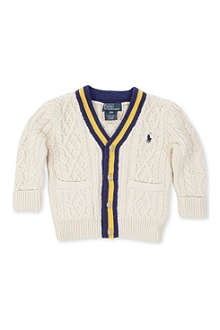 RALPH LAUREN Cricket cable-knit cardigan 9-24 months