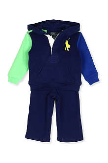 RALPH LAUREN Big Pony hoody and jogging bottoms set 9-24 months