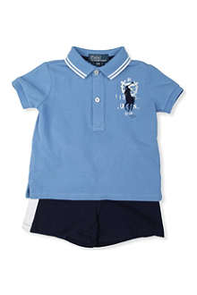 RALPH LAUREN Polo shirt and shorts set 12-24 months