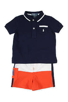 RALPH LAUREN Polo shirt and shorts set 9-24 months
