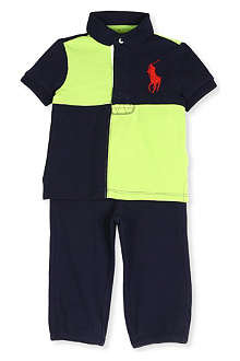 RALPH LAUREN Polo top and jogging bottoms set 9-24 months