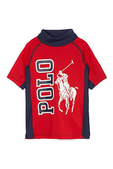 RALPH LAUREN Rash guard Big Pony shirt 9-18 months