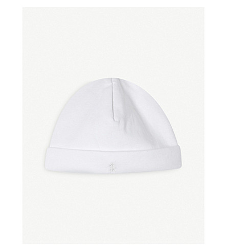 RALPH LAUREN Cotton beanie (White
