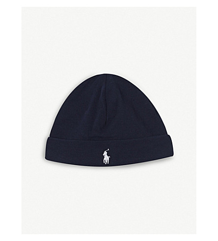 RALPH LAUREN Cotton beanie (French+navy