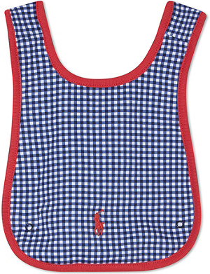 RALPH LAUREN Checked bib