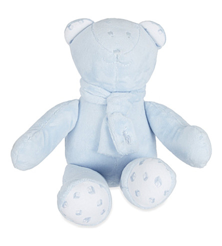 RALPH LAUREN Fleece scarf teddy bear (Beryl+blue