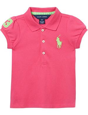 RALPH LAUREN Cotton polo shirt 3-24 months