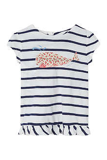 RALPH LAUREN Striped whale t-shirt 9-24 months