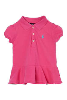 RALPH LAUREN Ruffled polo shirt 3-24 months
