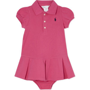 Pleated polo dress 3-24 months