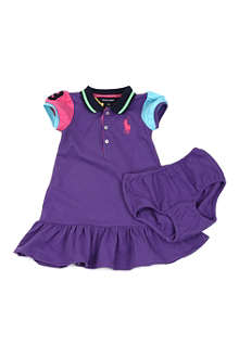 RALPH LAUREN Colour-block polo dress 3-24 months