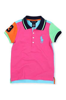 RALPH LAUREN Colour-block polo shirt 3-24 months