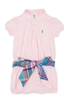 RALPH LAUREN Checked trim romper suit 9-18 months