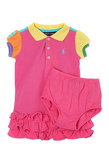 RALPH LAUREN Colour-block ra-ra dress set 3-24 months
