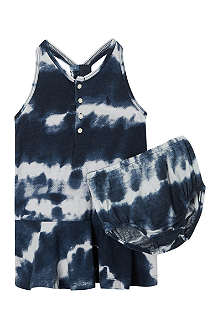 RALPH LAUREN Tie dye drop waist dress