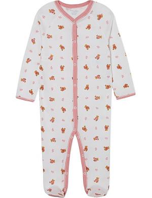 RALPH LAUREN Bear print sleepsuit 3-9 months