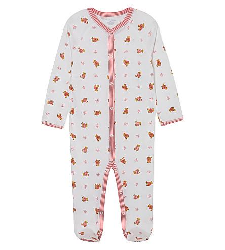 RALPH LAUREN Bear print sleepsuit 3-9 months (White+multi+pink