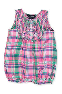 RALPH LAUREN Checked bubble bodysuit 12-24 months