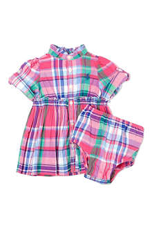 RALPH LAUREN Checked button-up dress 3-24 months