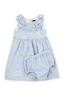 RALPH LAUREN Ruffled striped dress 9-18 months