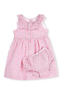 RALPH LAUREN Ruffled gingham dress with matching bloomers 9-18 months