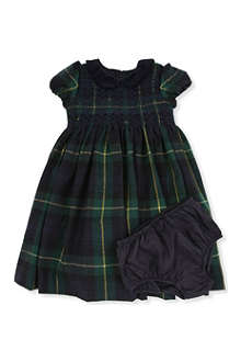 RALPH LAUREN Tartan dress and bloomer set 9-18 months
