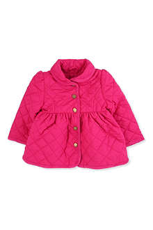RALPH LAUREN Shawl collar quilted barn jacket 9-24 months