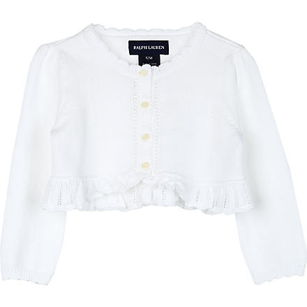 RALPH LAUREN Precious cotton shrug 9-18 months (White