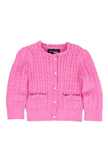 RALPH LAUREN Cable-knit cardigan 12-24 months