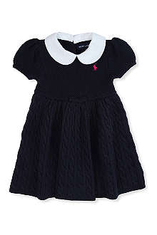 RALPH LAUREN Babydoll cable-knit dress 3-24 months