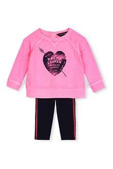 RALPH LAUREN Graphic sweatshirt and leggings set 9-18 months