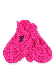 RALPH LAUREN Cable-knit bow mittens