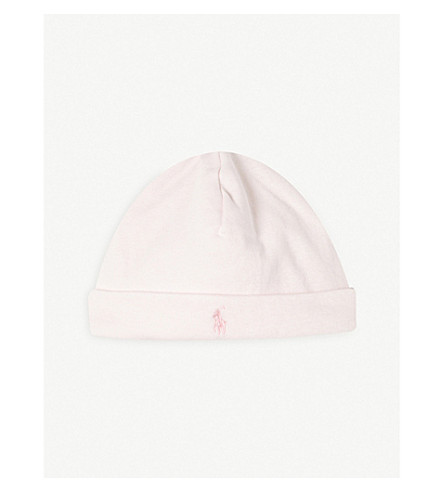 RALPH LAUREN Cotton beanie (Delicate+pink