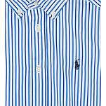 Ralph Lauren: Custom fit cotton striped shirt | Clothing -  Hiphunters Shop