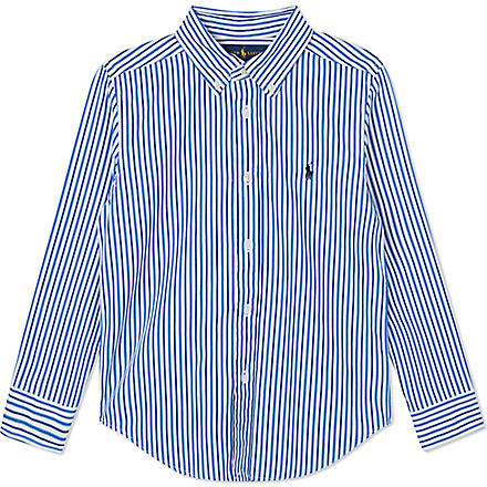 Ralph Lauren: Custom fit cotton striped shirt - Hiphunters Shop