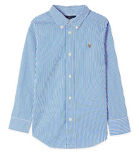 RALPH LAUREN Custom fit striped shirt 5-7 years (Blue+multi