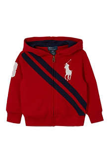 RALPH LAUREN Big Pony diagonal striped hoodie 2-7 years