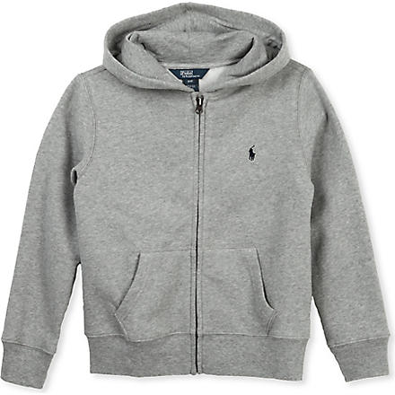 RALPH LAUREN Cotton fleece hoody 5-7 years (Grey