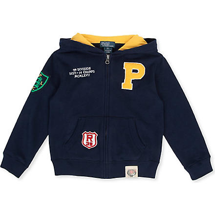 RALPH LAUREN Cotton fleece hoody 5-7 years (Navy