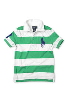 RALPH LAUREN Big Pony short-sleeved striped rugby shirt 2-7 years
