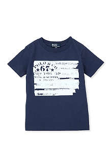 RALPH LAUREN Stencil-print cotton t-shirt 2-7 years