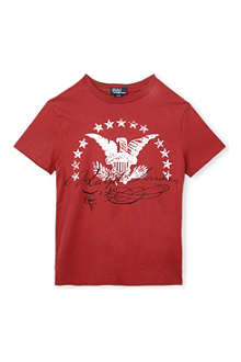 RALPH LAUREN Eagle logo-print t-shirt 2-7 years