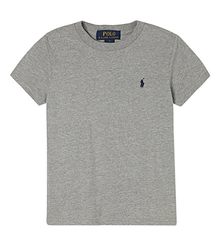 RALPH LAUREN Logo T-shirt 5-7 years (Andover+heather