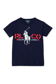 RALPH LAUREN Polo-print t-shirt 2-7 years