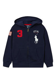 RALPH LAUREN Big Pony full-zip hoodie 2-7 years