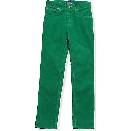 RALPH LAUREN Five-pocket slim-fit pants 2-7 years (Green