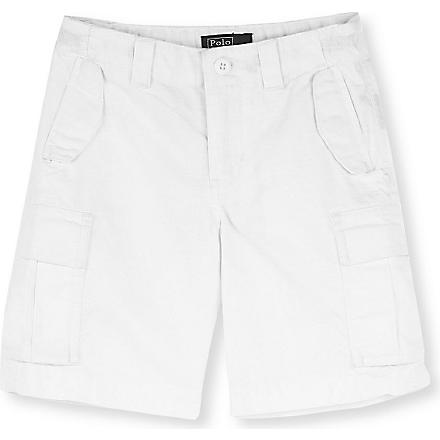 RALPH LAUREN M45 cotton cargo shorts 2-7 years (White